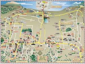 2008 -2009 Front of Map Prescott Area Map (7th Edition)