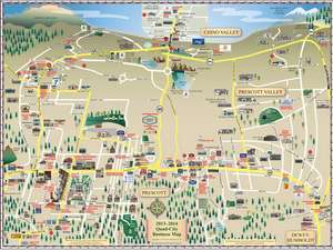 2013 -2014 Front of Map Prescott Area Map (12th Edition)
