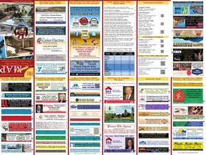 2014 -2015 Back of Map Lists all advertisers (13th Edition)