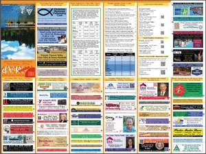 2015 -2016 Back of Map Lists all advertisers (14th Edition)
